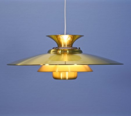 Danish hanging lamp in brass, 1970s