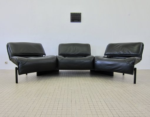 Vintage adjustable Cassina 'Veranda' 3-seater sofa by Vico Magistretti, 1983