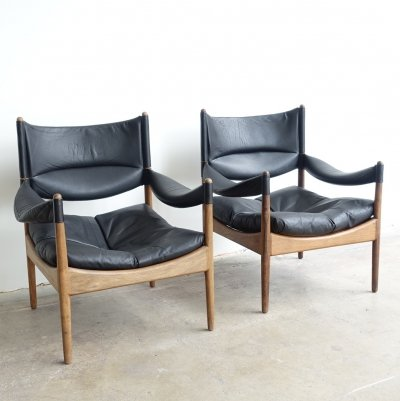High back lounge chairs model Modus by Kristian Solmer Vedel for Søren Willadsen