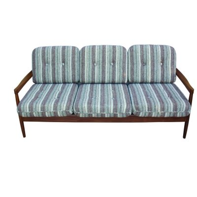 Danish extendable 3 seats sofa in teak, 1970s