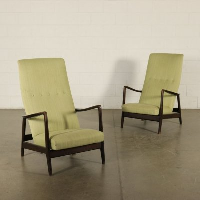 Pair of Reclining Armchairs, 1960s