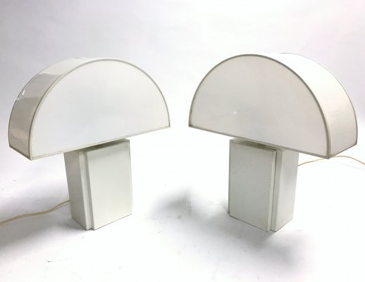 Pair of Guzzini 'Olympe' table lamps, 1970s