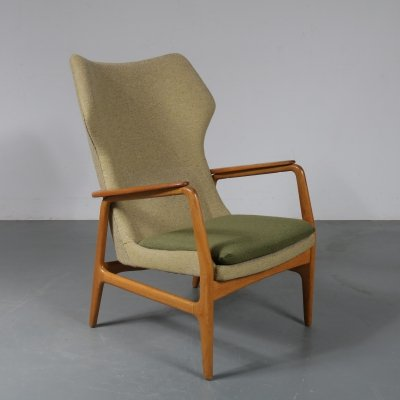 1950s Highback lounge chair by Aksel Bender Madsen for Bovenkamp