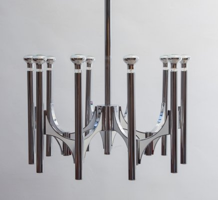 Italian 1960s chandelier by Gaetano Sciolari for Lightolier