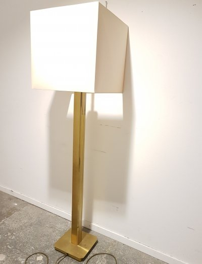 Brass column floor lamp, 1970s