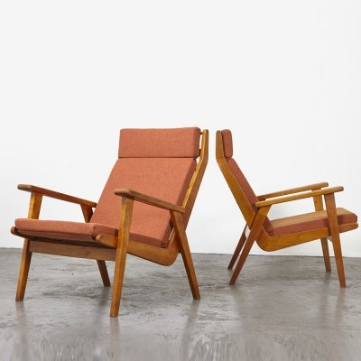 Pair of 1611 Lounge Chairs by Rob Parry for Gelderland, 1952