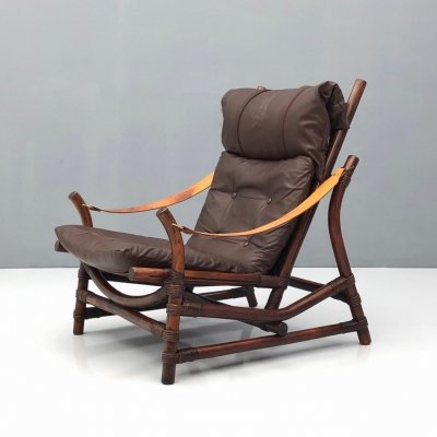 Bamboo Lounge Chair, 1960s