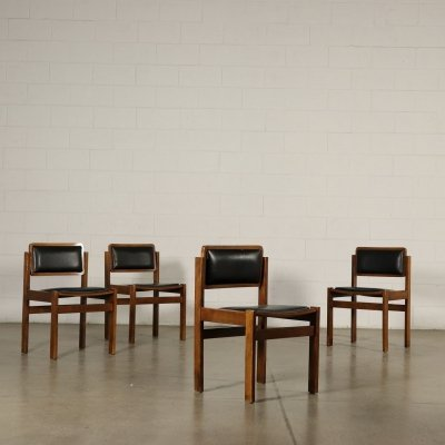 Set of Four 1970s Vintage Chairs