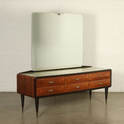 1950s Vintage Buffet with drawers & mirror