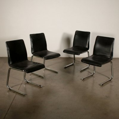 Set of 4 Vintage Chairs, 1970s