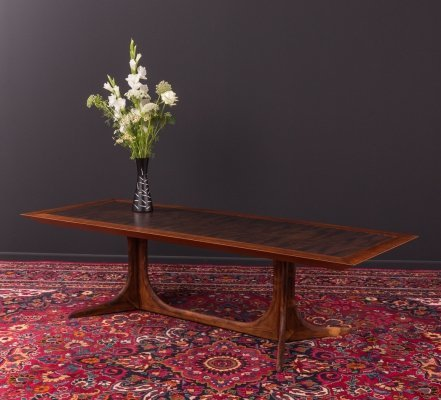 Rosewood coffee table with a copper plate, Germany 1970s