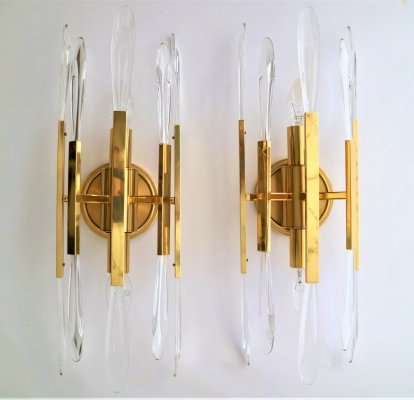 Pair of wall lamps by Gaetano Sciolari for Sciolari, 1960s