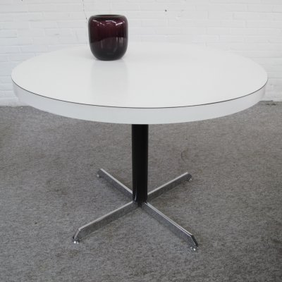 Vintage white formica dining table, 1960s