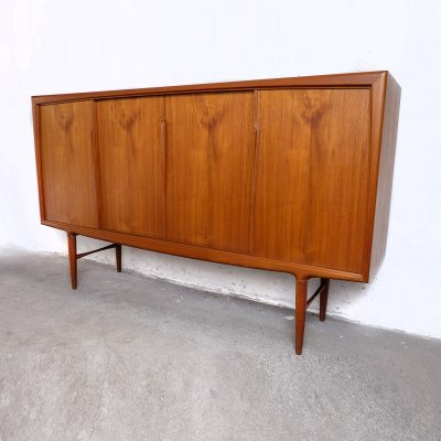 Danish Teak Highboard by Axel Christensen for ACO