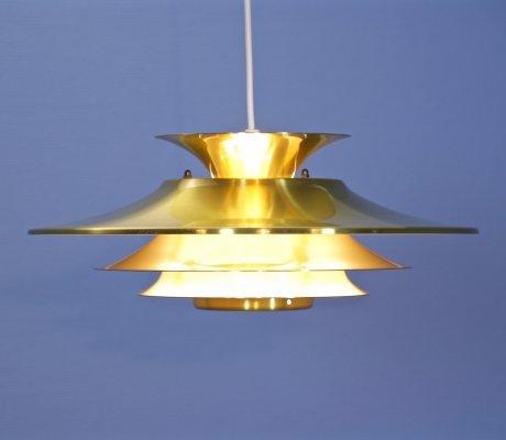 Danish pendant in brass, 1970s