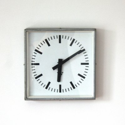 Industrial 'C30' clock by Pragotron, 1970s