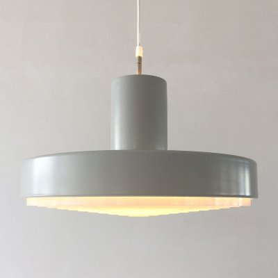 Danish grey hanging lamp, 1970s