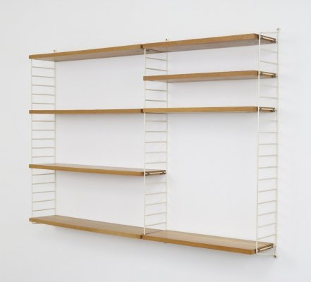 The ladder shelf wall unit by Nisse Strinning for String Design AB, 1960s