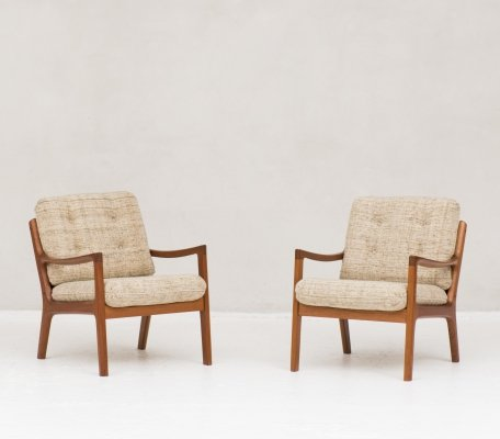 Pair of arm chairs by Ole Wanscher for Cado, 1950s