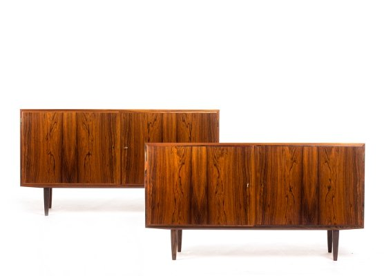 Set of 2 vintage Danish rosewood sideboards by Carlo Jensen for Hundevad & Co