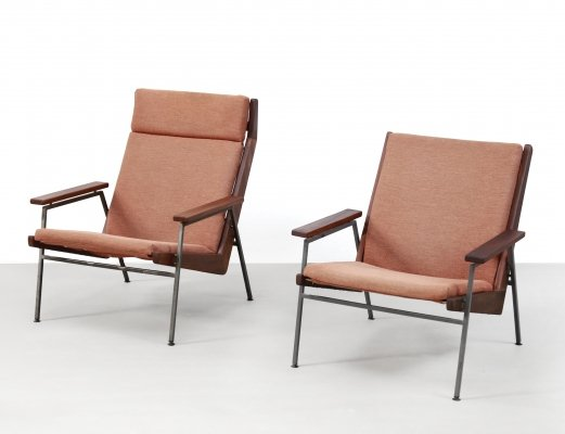 Set of two Teak Rob Parry Lotus armchairs for Gelderland