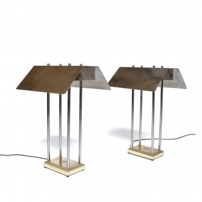 Set of 'Mega Watt' Table Lamps by Peter Ghyczy, Netherlands 1981