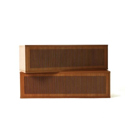 Pair of Teak Loudspeaker Boxes for Omnia Wall Unit, 1960s