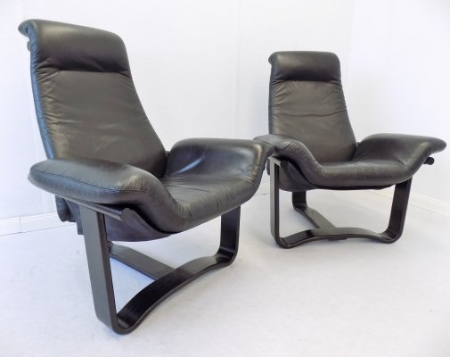 Pair of Manta lounge chairs by Ingmar Relling for Westnofa, 1970s