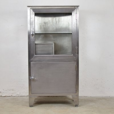 Industrial vitrine cabinet by Friedrich Schmitz, Germany 1950's