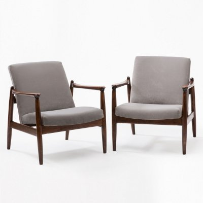Pair of GFM-64 armchairs by E. Homa, 1960s