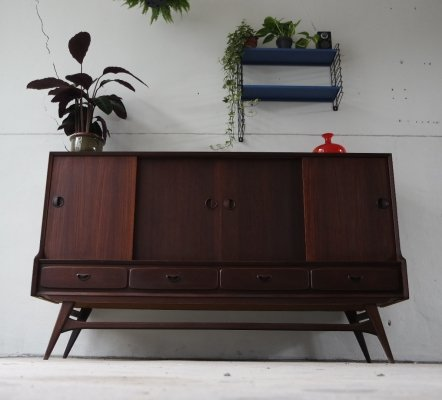 Vintage highboard by Louis van Teeffelen for Webe, 1960's