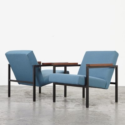 Hein Stolle Pair of SZ30/SZ60 Easy Chairs for 't Spectrum, 1960