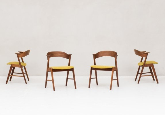 Set of 4 dining chairs by Kai Kristiansen for Shou Andersen Denmark, 1960s