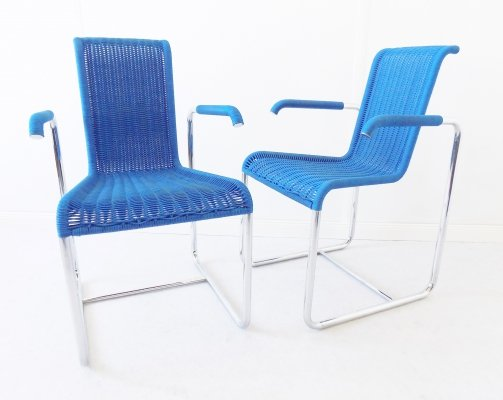 Pair of D25 dining chairs by Jean Prouvé for Tecta, 1970s