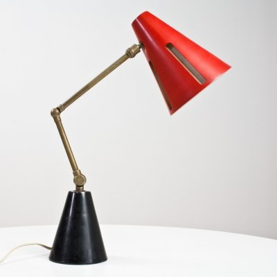 Sun series Zonneserie Desk light by Busquet for Hala Zeist, 1955