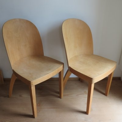 Pair of 1940s Bentwood Chairs from Czechoslovakia