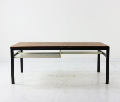 Cees Braakman for Pastoe TU04 coffee table with reversible white formica or teak top