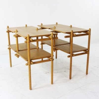 Two Dutch design sidetables / nightstands, 1980s