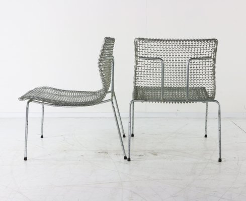 Pair of Rascal lounge chairs by Niall O Flynn for Spectrum, 1990s