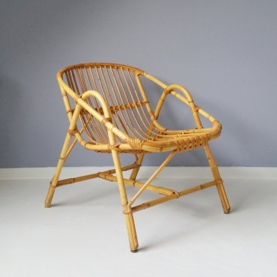 Midcentury Rattan Chair, 1960s