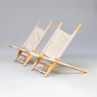 Pair of 'Saw' lounge chairs by Ole Gjerløv-Knudsen for Cado, 1960s