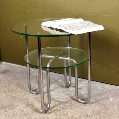 Chrome & Glass coffee table by Gispen