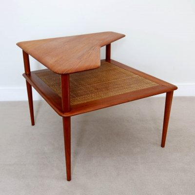 Coffee Corner Table in Teak & Cane by Peter Hvidt, Denmark