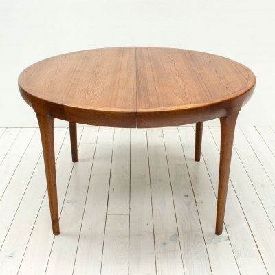 Danish Teak Extending Dining Table by Jörgen Linde for Faarup, 1960s