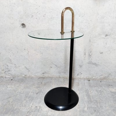 Midcentury Italian Messing & Glass Side Table, 1970s