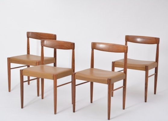 Set of four rosewood dining chairs by Henry Walter Klein for Bramin Möbler