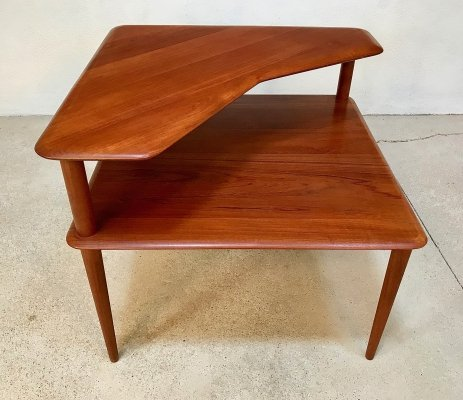 Danish Minerva Solid Teak Side Table by Hvidt & Mølgaard for France & Søn, 1960s