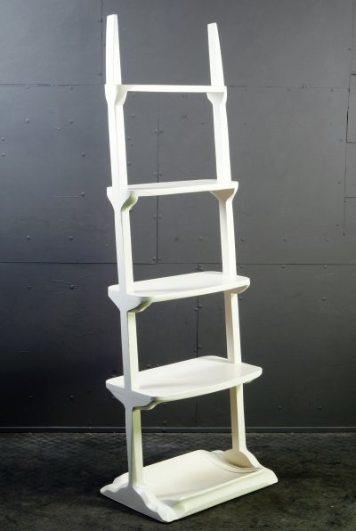 White Stand-alone Shelve Etagere, 1970s