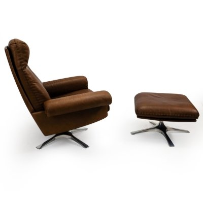 DS-31 Lounge Chair & Ottoman by De Sede, 1970s