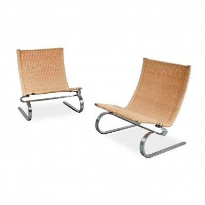 Pair of PK20 Chairs by Poul Kjaerholm for E. Kold Christensen, 1970s